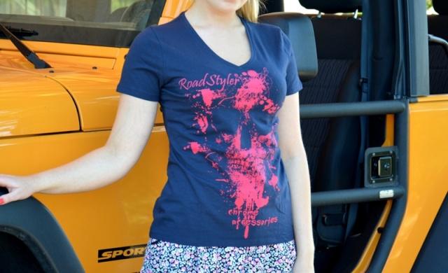 Lady's T-shirt – scary raspberry