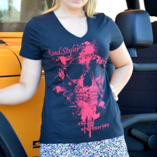 Lady's T-shirt – scary raspberry