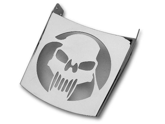 Bagażnik z blachy – czaszka