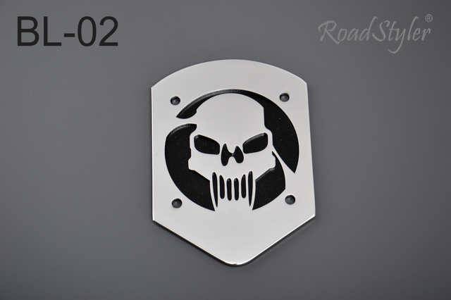 Small backrest back plate – skull BL-02