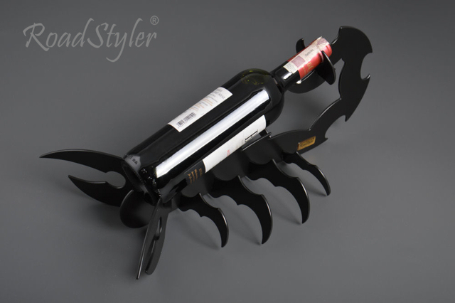 Wine bottle stand – scorpio (black,red,white)