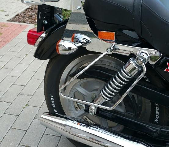 Stelaże pod sakwy H-D Sportster (mocowane do amortyzatora)