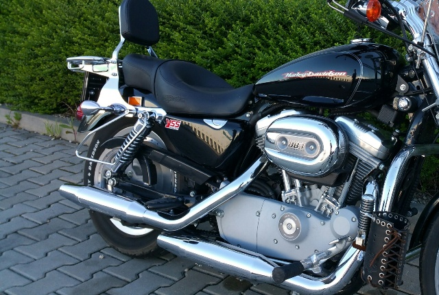 Saddlebag Support Bars for H-D Sportster (to shock absorber)