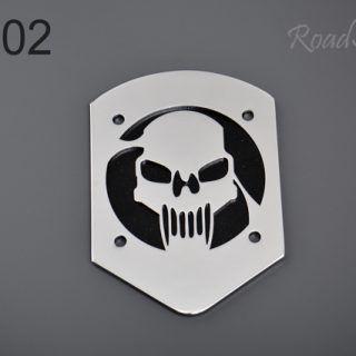 Small backrest back plate – skull BL-02