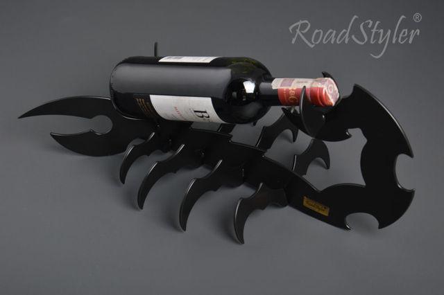 Wine bottle stand – scorpio (black,red,white)